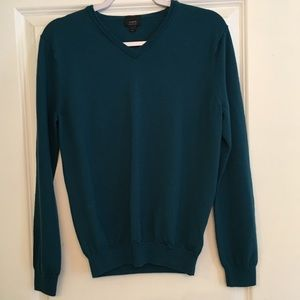 J.crew teal 100% merino wool sweater large slim